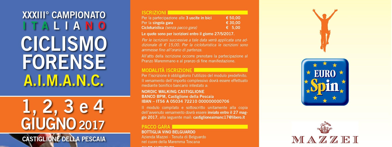 Per iscrizioni e info castiglioneaimanc17@libero.it